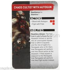 SAS13 CHAOS CULTIST REFERENCE CARD GUN ASSASSINORUM WARHAMMER 40,000 BITZ W40K