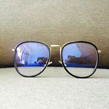Black Gold Frame Oversized Retro Nerdy Geek Vintage Fashion Glasses 70s 80s
