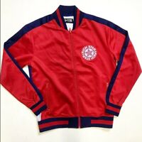 Rich Star Zip Up Logo Track Jacket Red Mens Sample S Large Nice Quality Rare