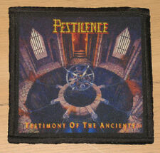 "PESTILENCE ""TESTIMONY OF THE ANCIENTS"" silk screen PATCH"