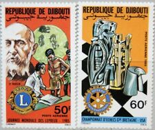 DJIBOUTI DSCHIBUTI 1985 434-35 C211-12 Service Clubs Lions Rotary Intl. Chess **