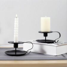 Classic Look Taper Candlestick Holder Home Retro Style Iron Metal Accessories
