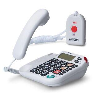 Notruftelefon mit Notrufsender, Telefon für Senioren Seniorentelefon Hausnotruf