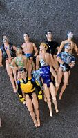"JOB LOT OF 9 X ACTION MAN 12"" FIGURES ASSORTED AS PICS  X 9 . 2"