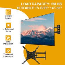 "Full Motion TV Wall Mount Space Saving LED LCD Flat Screen 14""21""25""37""42""55"""
