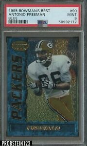 1995 Bowman's Best Blue #90 Antonio Freeman Green Bay Packers PSA 9 MINT