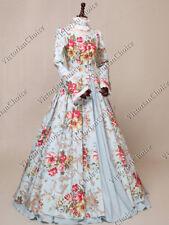 Victorian Renaissance Vintage Floral Dress Reenactment Theater Wear N 156 M