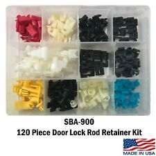 120 Piece Door Lock Rod Clip Retainer Kit Assortment Fits Ford GM Mazda Chrysler