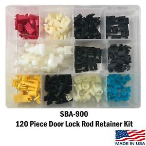 120 Piece Door Lock Rod Clip Retainer Kit Assortment Fits Ford GM Mazda Chrysler