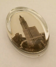 Vintage WOOLWORTH BUILDING New York Souvenir GLASS PAPERWEIGHT NYC Architecture