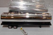 "Lot of 3 Ertl Collectibles Semi Tanker Trailers 6-1/2"" Long Black & Chrome"