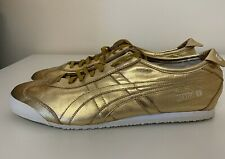Asics Onitsuka Tiger Mexico 66 Gold White Mens Sz 11.5 Running Trainers D5R1L