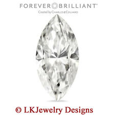 0.50 CT MOISSANITE MARQUISE FOREVER BRILLIANT LOOSE STONE - 8 x 4 mm