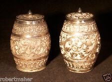 Antique Silver Hand Crafted French Barrel Shakers MAKE ME AN OFFER!!!