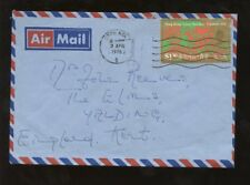 HONG KONG 1976 YEAR of DRAGON $1.30 SOLO AIRMAIL to GB