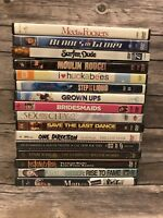 Comedy Drama Concert Music DVD Lot Bundle of 16 Movies Bridesmaids Grown Ups...