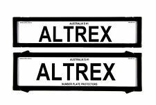 Altrex Number Plate Cover 6 Figure Black Without Lines Premium Combination NS...
