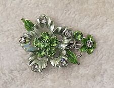 Petals Fern Frond Plant Spray Ds5 Classic Pin Brooch Bouquet Basket Bloom Floral