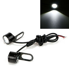 Motorcycle Mirror Mount LED Constant New Eagle Eye DRL Tail Light White 2pcs