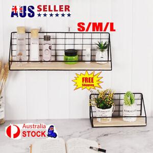 Modern Wall-mounted Rack Bedroom Storage Shelves Metal Book Holder EA