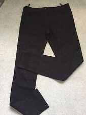 River Island - Stunning Black Jacquard Stretch Trousers Jeggings - UK 10