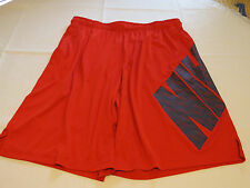 Nike training active Dri Fit gym shorts 742521 red 657 Mens L logo NEW