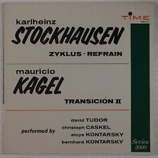 STOCKHAUSEN: Zyklus Kagel Rare TIME SERIES 2000 Vinyl LP NM
