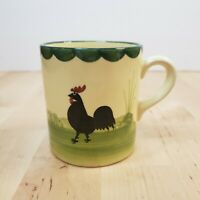 Vintage Harmersbach Hand Painted Coffee Mug Tea Cup Rooster