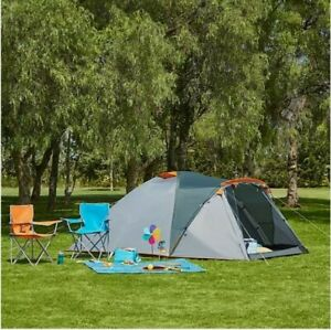 Ozark Trail 4 person Dome Waterproof Tent Glamping Camping Double Layer Protect