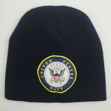 US Navy Seal Emblem USN Knit Beanie Cap Hat without a cuff Skull Ski one size