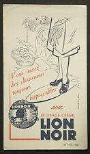 BUVARD PUBLICITAIRE ANCIEN : CIRAGE LION NOIR