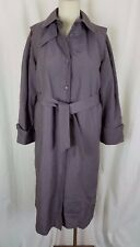 Vintage Evan Picone Belted Tie Cape Top All Weather Trench Coat Womens 13 80s