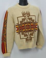 SEARS tribal Pullover Sweater kings road crewneck rockabilly 60s 70s M MOD VTG
