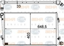 Kühler, Motorkühlung für Kühlung HELLA 8MK 376 756-701
