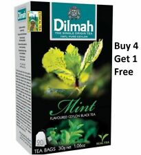 Dilmah Mint Flavoured Ceylon 20 Tea Bags (30g 1.06 Oz) Buy 4 Get 1 Free