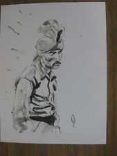 SUPERB ORIGINAL GEORGE PRATT ORIENTALIST FIGURE INK ART JEFF JEFFREY JONES CIRCL