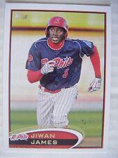 JIWAN JAMES 2012 Topps Pro Debut baseball card PHILLIES GAINESVILLE WILLISTON FL