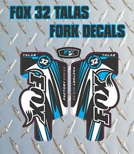 Fox 32 Talas blue FORK Stickers Decals Graphics Mountain Bike Down Hill MTB 2014