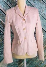 J. Crew Pink/White Cotton Blend Striped Blazer