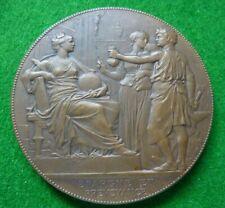 1903 FRANCE  - CAISSE d'EPARGNE EY DE PREYVOYANCE DE PARIS BRONZE MEDALLION - EF
