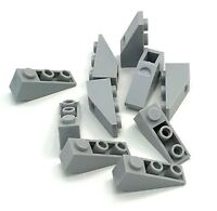 Lego 10 New Light Bluish Gray Slopes Inverted 33 3 x 1 Sloped Pieces
