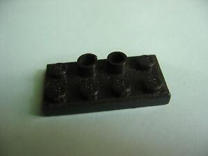Lego Platte schwarz 2x4 mit 2 Löchern für alte Eisenbahn 60er Jahre