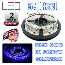 5m 12v Azul Tira de luces LED 5050 IP65 300smd 18lm / SMD 60smd / M BRILLO