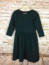 ASOS Women's Hunter Green Cotton 3/4 Sleeve Midi Skater Dress Size 8 (US)