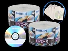 500 PHILIPS Logo 16X DVD-R DVDR Recordable Blank Disc + 500 White Paper Sleeve