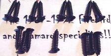 1978 -1981 CAMARO Z28 HEADLIGHT / PARK LIGHT BEZEL SCREW SET - TORX HEAD - BLACK
