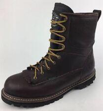Georgia Men's Waterproof Lace-to-toe Low Heel Logger Brown Work Boot G101 Sz 13M