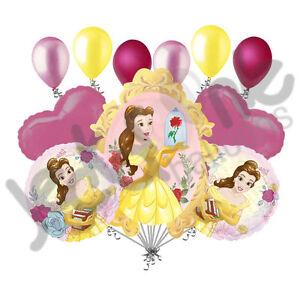 11 pc Beauty & the Beast Disney Princess Belle Balloon Bouquet  Birthday Movie