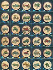 1961 HOSTESS JELL-O AUTO CARS WHEEL COMPLETE 200 COIN SET W/ORIG JELLO FACT BOOK
