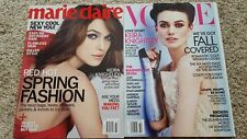 Keira Knightley magazine lot-Vogue October 2012,Marie Claire 2013-a must for fan